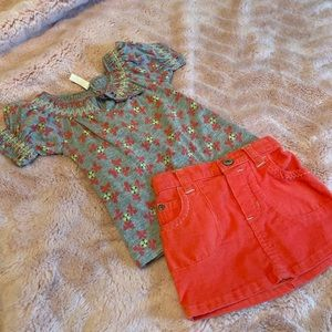 Old navy baby girl skirt outfit